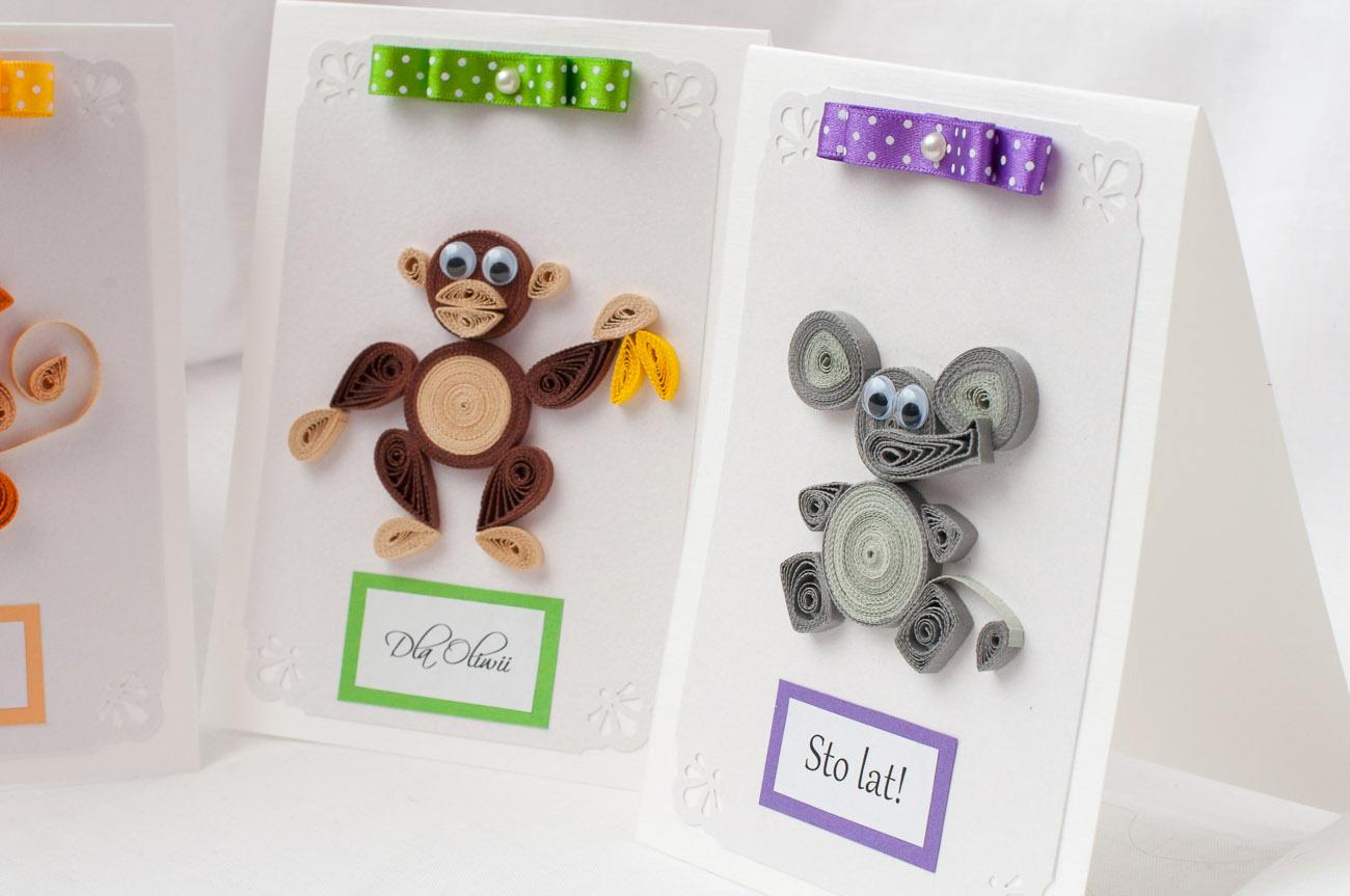 Cudowna quilling kartki urodzinowe dla dzieci, kartki ręcznie robione dla DX92