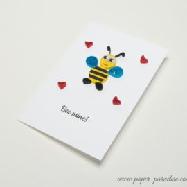 Kartka na Walentynki – Bee mine!