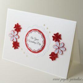 Kartka ślubna – kolor czerwony