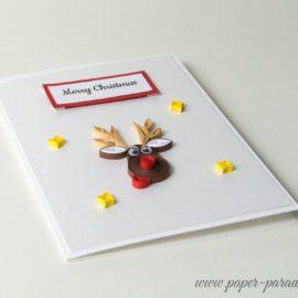 Kartka na Boże Narodzenie – Renifer