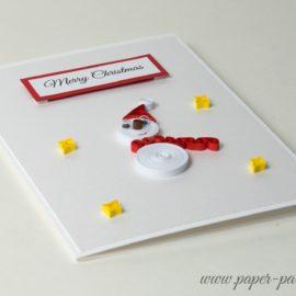 Kartka na Boże Narodzenie – Bałwanek