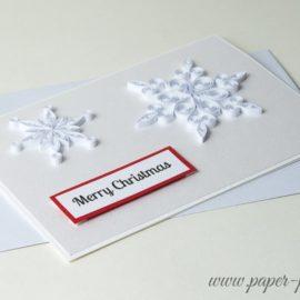 Kartka na Boże Narodzenie – Śnieżynki