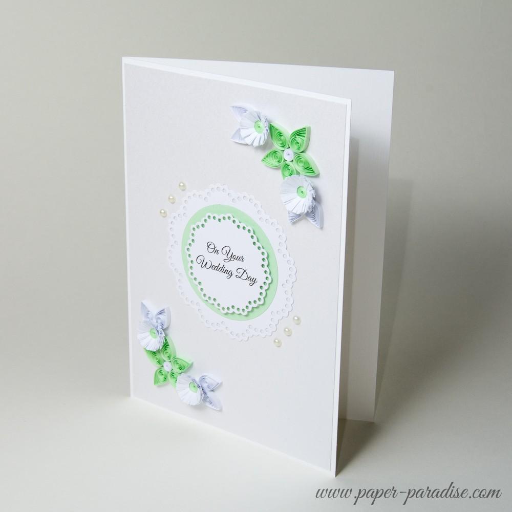 Kartka ślubnaurodzinowa Kolor Seledynowy Paper Paradise
