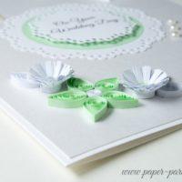 Kartka ślubna – kolor seledynowy