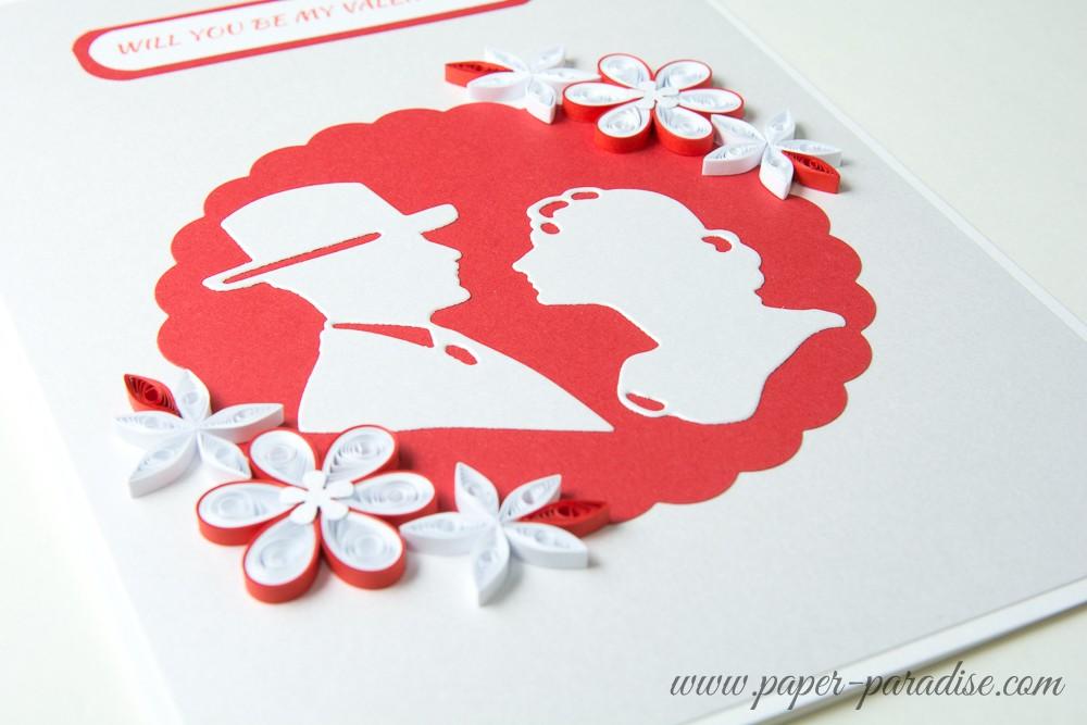 Kartka Walentynkowa Para Paper Paradise