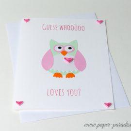 handmade valentine cards quilling unique valentines owl love cards