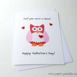 handmade valentines quilling owl
