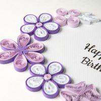 Kartka urodzinowa – kolor fioletowy