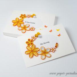 Kartka urodzinowa w pudełku – kolor żółty