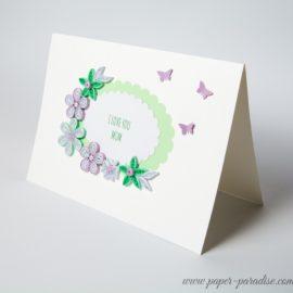 Kartka z okazji Dnia Matki/Urodzinowa/Rocznica – mięta i lawenda