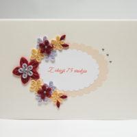 Kartka ślubna – kolor wiśniowy i kremowy