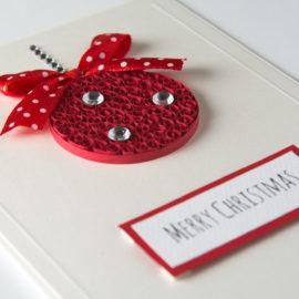 Kartka na Boże Narodzenie – Bombka