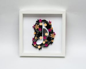 Read more about the article Black Musical Note Quilling Wall Art