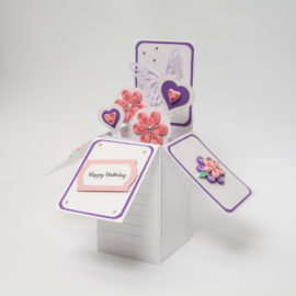 Kartka urodzinowa – Pastelowe pudełko