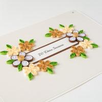 Kartka urodzinowa – kolor brązowy i kremowy