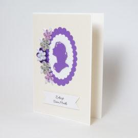 Kartka dla kobiety – Kolor fioletowy