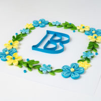 """Obrazek – wianek z literą """"B"""""""