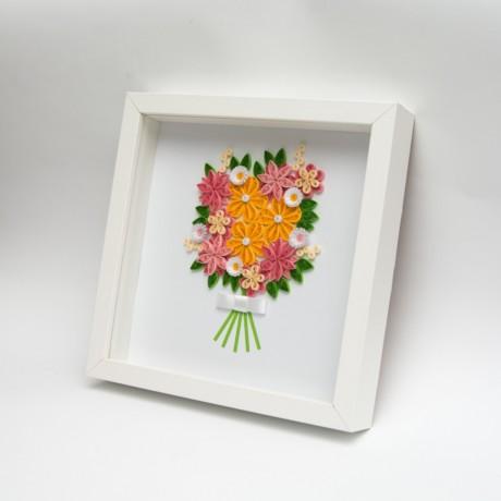 Obrazek – bukiet pomarańczowych kwiatów