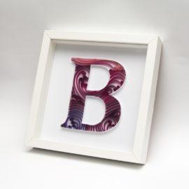 "Litera ""B"" – quilling konturowy"