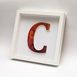 """Litera """"C"""" – quilling konturowy"""
