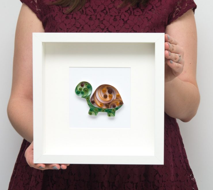 Papierowy żółw