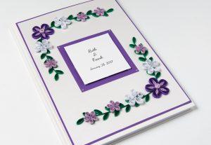 Purple Wedding Guest Book