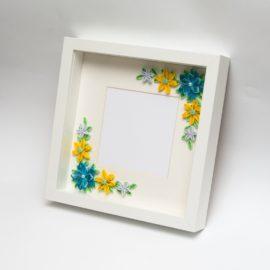 elegancka ramka na zdjęcie quilling prezent ślubny dekoracja mieszkania rocznica baby shower podziękowanie
