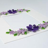 Ramka na zdjęcie – kolor fioletowy i szary