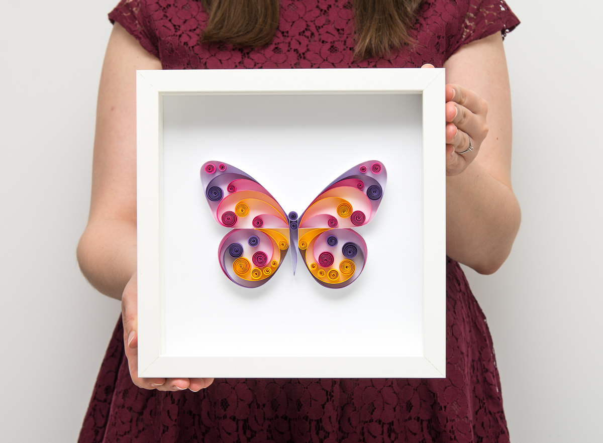 Quilled Butterfly Wall Art