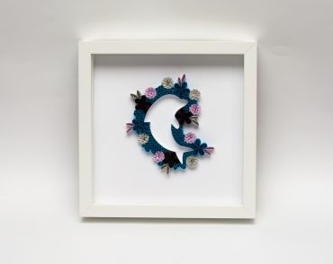 Unique Wall Art Blue Dolphin Quilling Baby Shower Gift Birthday Gift