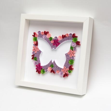 Obrazek – Różowy motyl