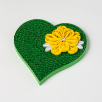 Obrazek – Zielone serce z kwiatem