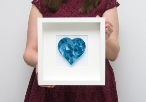 Read more about the article Blue Heart Quilling Wall Art