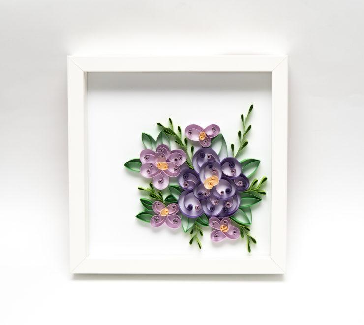 Fioletowe love – Quillingowa dekoracja