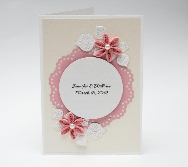 Ręcznie robione zaproszenia ślubne – Kolor różowy