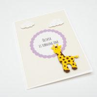 Zaproszenia na Roczek – żyrafa – 5 sztuk