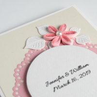 Zaproszenia ślubne – kolor różowy – 5 sztuk