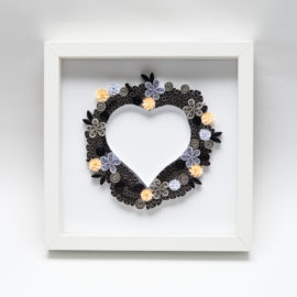 Serce – kolor czarny i szary