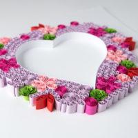 Serce – kolor różowy i zielony