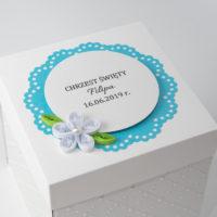Kartka na Chrzest – Exploding Box, niebieski
