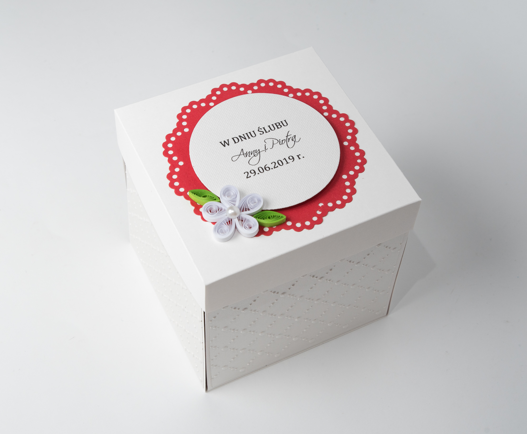 Pudełko z okazji ślubu – Exploding Box