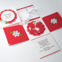Kartka na Ślub – Exploding Box, czerwony