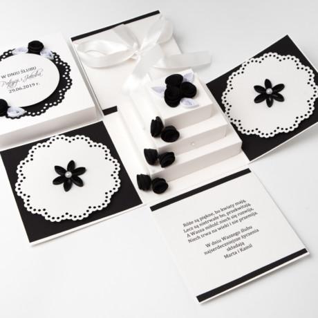 Kartka na ślub – Exploding box, czarny