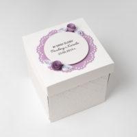 Kartka na ślub – Exploding box, fioletowy