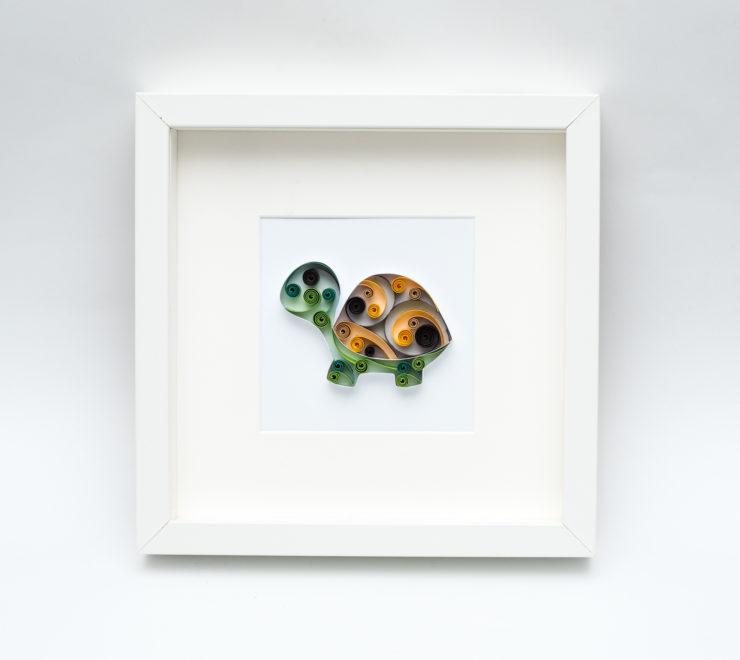 Obrazek z żółwiem – urocza dekoracja do pokoju dziecka