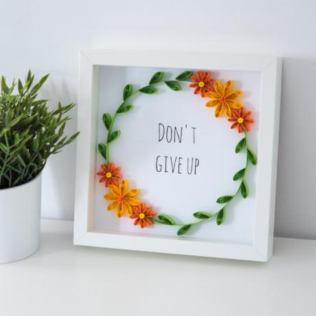 Ramka z cytatem – Don't give up