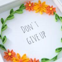 Ramka z cytatem – Don't give up