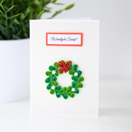 Kartka na Boże Narodzenie – wieniec