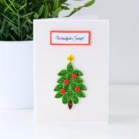 Kartka na Boże Narodzenie – choinka