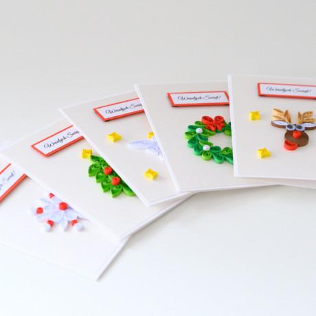 Zestaw 5 kartek na Boże Narodzenie